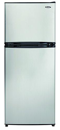 Danby DFF100C1BSLDB Refrigerator with Top-Mount Freezer, 9.9 Cubic Feet, Black/Spotless Steel
