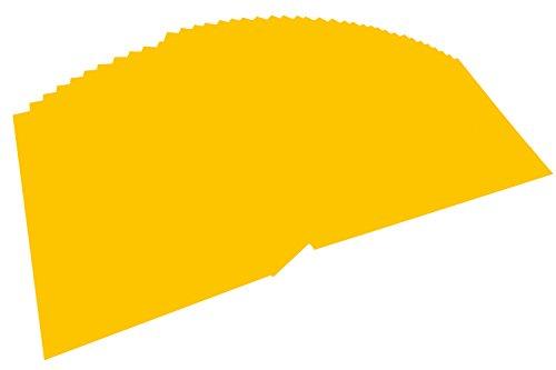 folia 614/50 15 - Fotokarton DIN A4, 300 g/qm, 50 Blatt, goldgelb - zum Basteln und kreativen Gestalten von Karten, Fensterbildern und für Scrapbooking