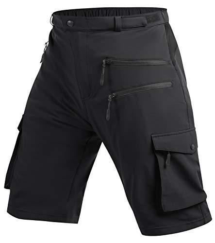 Cycorld MTB Hose Herren Radhose, MTB Shorts Atmungsaktiv Farradhose Hose Herren Outdoor Bike Shorts 2021 Version (Black, L)