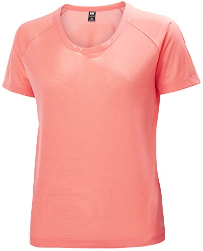 Helly Hansen W Verglas Pace T-Shirt Camiseta, Mujer, Coral Oscuro, L