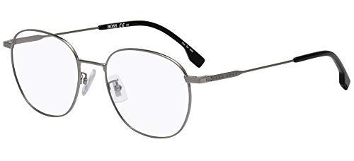 Hugo Boss Gafas (BOSS-1220-F 6LB) de metal, color plateado oscuro
