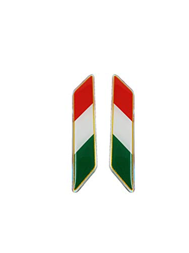 3D Sticker Italiaanse vlag gekanteld