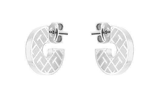 Tommy Hilfiger Women's Jewelry Stainless Steel Stud Earrings, Color: Silver (Model: 2780480)