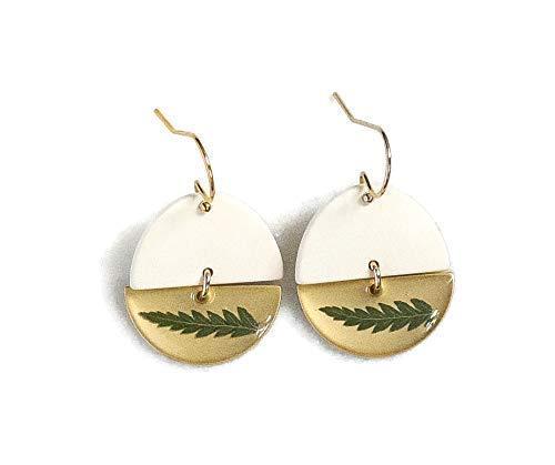 Half Moon Fern Leaf Earrings for Women Filled Award Gold Ear 14k Wire Popularity