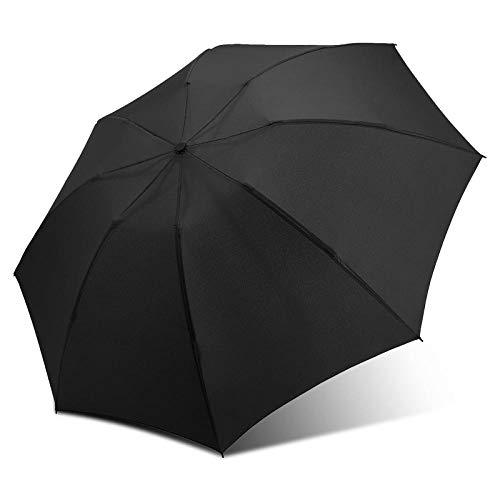 Sonnenschirm Regenschirm Beschichtung Regenschirm Mode Farbe Regenschirm Regen Frauen 3 Falten Sunny Automatic Car Men Regenschirme Schwarz