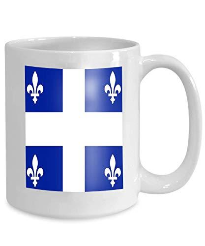 N\A Geschenke - Kaffeetasse - Geschenke Kaffeetasse Teetasse Weiße Keramikflagge Quebec Hintergr& Textur Nahaufnahme Flagge Quebec