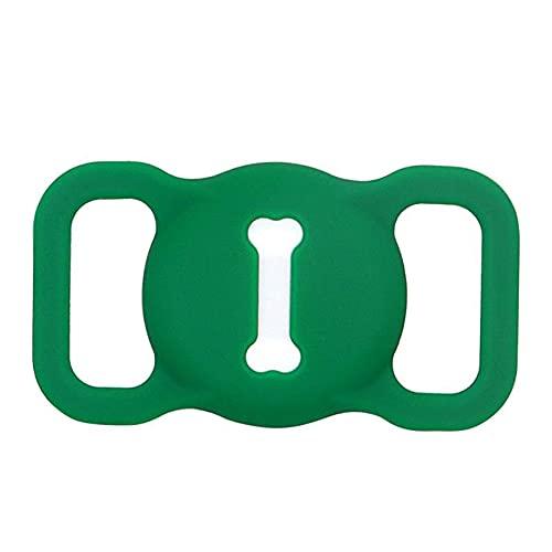 1 unids Airtag perro collar Pet Loop Holder Funda protectora de silicona compatible con Apple Airtag GPS Tracking Finder