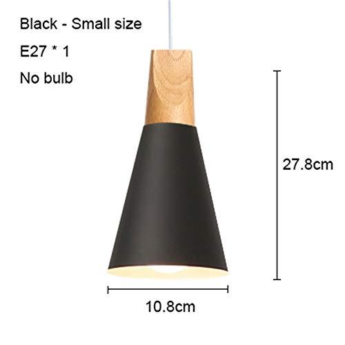 LHRR Electric lightLed Deckenleuchte Wohnzimmer Licht Küche E27 LED Deckenleuchte Esszimmer Licht Dachboden Nordic Wood Lampe 110v Australien Schwarz 108mm keine Glühbirne