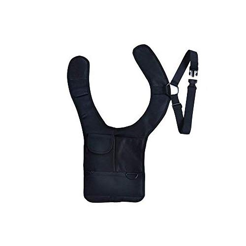 Jhua Mehrzweck-Diebstahlsicherung Security Geldbörse Holster Travel Schultertasche Tactical Pack Schwarz