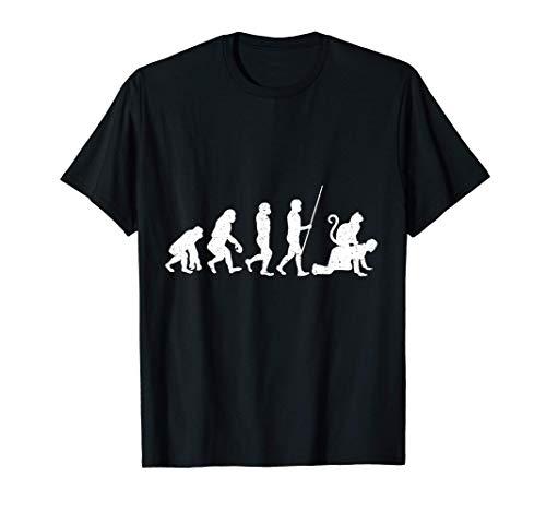 Katze Erziehung Halsband Geschirr Katzenhöhle Evolution T-Shirt