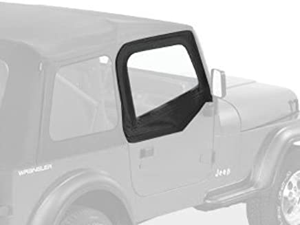Bestop 51780-15 Black Denim Fabric Upper Half Door Set for 1988-1995 Wrangler
