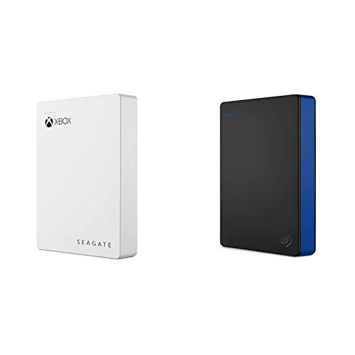 Seagate Game Drive for Xbox 4TB External Hard Drive Portable HDD & Game Drive 4TB External Hard Drive Portable HDD - Compatible with PS4 (STGD4000400) Blue