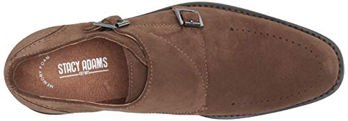 STACY ADAMS Men's Wentworth Double Monk Strap Loafer, Tobacco, 8.5 M US