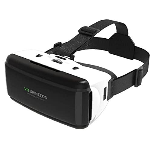 NaiCasy 3D VR Occhiali di Realtà virtuale Auricolare del Casco Occhiali Stereo per Altro Giochi Smartphone Bluetooth Rocker Bianchi