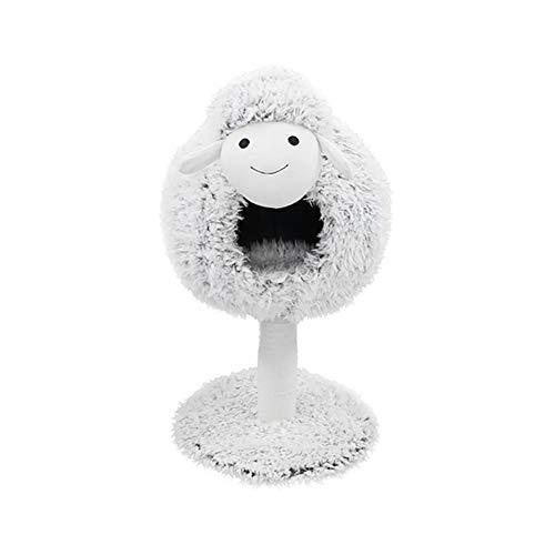 Lam-vormig Kattennest, Krabpaal Voor Zomerkatten Krabpaal Met Geïntegreerd Nest, Schattig Lamvormig Kattenspeelgoed Voor Huisdieren,style1