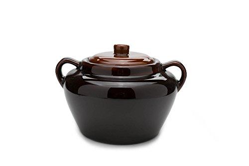 Fox Run 0350 Stoneware Bean Pot, 9.75 inches, Brown