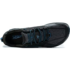 ALTRA Men's ALM1855L Lone Peak 4 Low RSM Waterproof Trail Running Shoe, Black/Blue - 12 M US