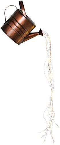 Guirnalda de luces LED de 35 pulgadas para decoración de jardín, con alambre de cobre, luz de hadas con LED blanco cálido, resistente al agua, esculturas para patio (sin soporte)