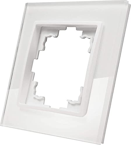 Glasrahmen - Marco de cristal (1 compartimento), color blanco