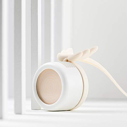 YUMO Leafless Kleiner Ventilator, tragbarer Mini-Lanyard Fanless Kühler, USB-Lade/Mute/Hand/Hanging Hals/High Wind/Micro, Geeignet für Outdoor/Student/Büro/Schlaf,Weiß