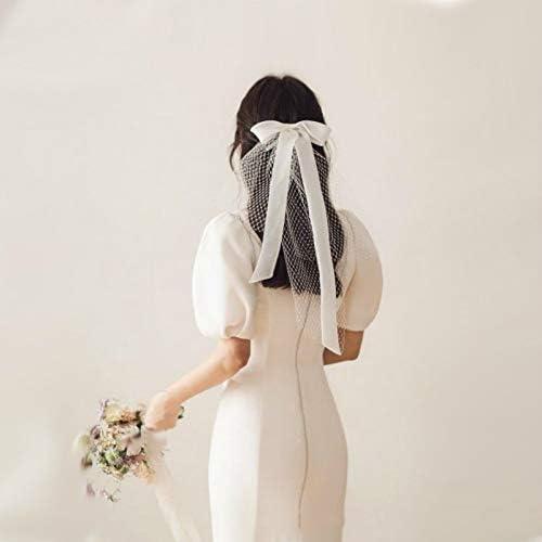 Bow Ribbon Ivory Bridal Ranking TOP11 Veils Wedding Short Headdr Styling Bride Max 88% OFF