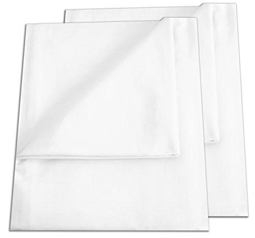 2er Pack Betttuch/Bettlaken/Haustuch 250x150 cm weiß von Green Mark Textilien 100% gewebte Baumwolle