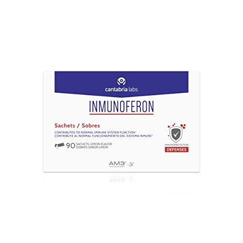 Inmunoferon Complemento Alimenticio - Refuerza el Sistema Inmunológico, Ayuda a las Defensas, Fórmula Exclusiva con AM3, Sin Gluten, Sin Lactosa, 90 sobres