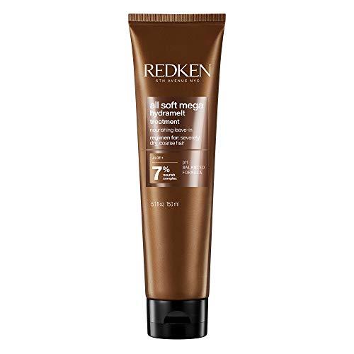 Redken All Soft Mega Leave In, Haarcreme für sehr trockenes Haar, feuchtigkeitsspende Haarmaske mit Aloe-Vera-Gel, langanhaltende Geschmeidigkeit und Glanz, mit Sacha...