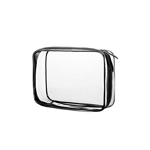Weimay Sac de Voyage en PVC Transparent Étanche Multifonction Sacs Cosmetiques/Trousse de Toilette Transparente/Trousses à Maquillage pour Voyage (Noir)