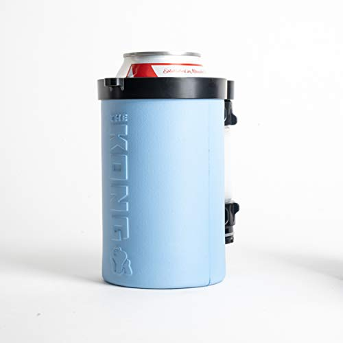The Kong Beer Bong 2.0. A Portable Can or Bottle Coozie/Cup With A Detachable, Expandable, Hose To Funnel Your Beer. Built For Drinkers. (Blue)