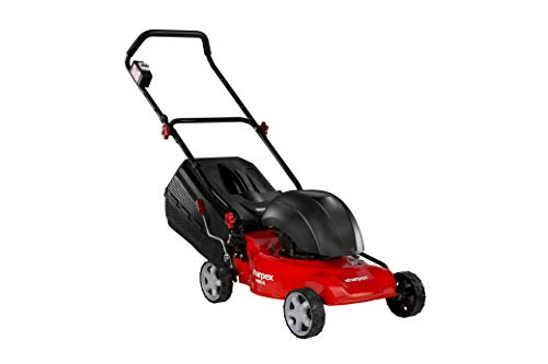 Sharpex 1800 Watt Electric Lawn Mower | Folding Handle and Detachable Collection Box | Adjustable Height Mower (16 Inch Cutting Blade)
