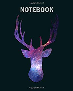 Notebook: cosmic elk - 50 sheets, 100 pages - 8 x 10 inches