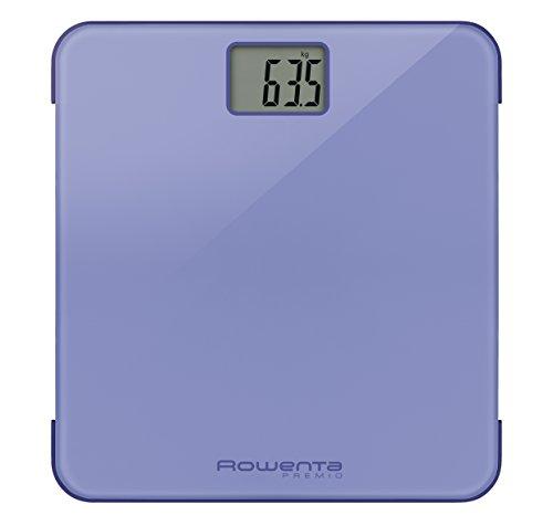 Rowenta Premio Báscula personal electrónica Rectángulo Violeta - Báscula de baño (Báscula personal electrónica, 160 kg, 100 g, kg, lb, ST, Rectángulo, Violeta)