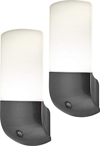 Energizer 37102 Automatic Night Lights, 2 Pack, Brushed Nickel