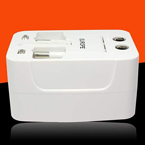 ZXF- Adaptador De Viaje para Más De 150 Países, Cargador De Corriente Internacional, Adaptador Europeo, Enchufe De Alimentación del Cargador De Pared para EE. UU. UE Reino Unido AUS