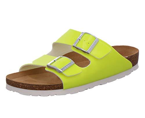 Rohde Alba 5633 24 Damen Sandale Sandalette Pantolette Sun Gelb, Größe:D 38