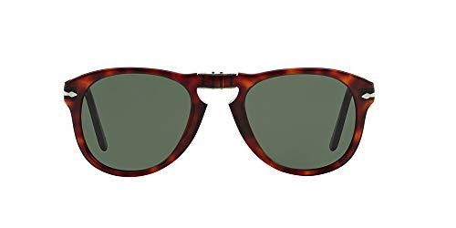 Persol 0Po0714 24/31 Occhiali da Sole, Marrone (Havana/Grey Green), 52 Uomo