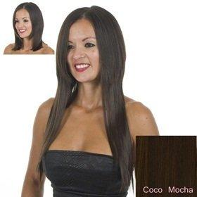Extensions Cheveux Clips Bruns Raides   45cm de longeur   Lot de 10 Clips Pièces pour une tête pleine d'extensions   Résistant à la chaleur