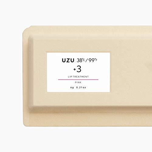 UZUBYFLOWFUSHI(ウズバイフローフシ)38°C/99°Fリップトリートメント[+3ピンク]リップケア美肌菌保湿無香料低刺激性
