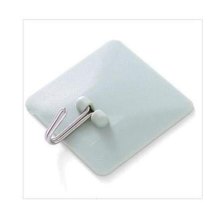YiXing Shelf Hanger Bathroom Kitchen Organizer Hanger Adhesive Hooks Stick On Wall shelf Hanging Door Clothes Towel Holder 1PC (Color : Green)