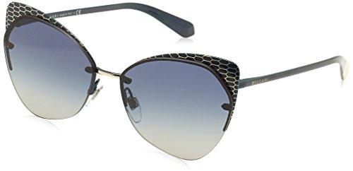 Bulgari 0Bv6096 20204L 58 Gafas de sol, Azul (Blute/Grey Blue), Unisex-Adulto