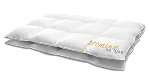 Hanskruchen Premium de Luxe Daunendecke, Baumwolle, EXTRA WARM, 155 x 220 cm