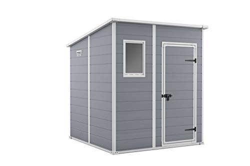 Keter Manor Pent Garden Storage Shed 6 x 6 feet - Grey