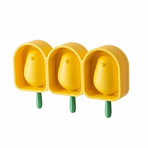 JYDQM Forma De Pájaro Helado Molde Fabricantes De Moldes De Silicona Material Grueso DIY Moldes De DIY Moldes De Cubitos De Hielo Postre Moldes Bandeja con Popsicle (Color : A)