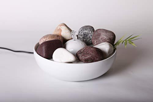 Clevere Zimmerbrunnen aus Keramik für 2 Liter Wasser mit Beige Ziersteinen