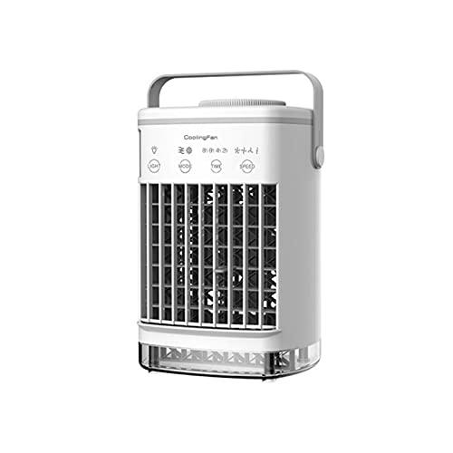 Ranana Ventilateur de Refroidissement Portable Mini USB avec Fonction de pulvérisation LED Chaude veilleuse climatisation Refroidisseur Ventilateur de Bureau Biological