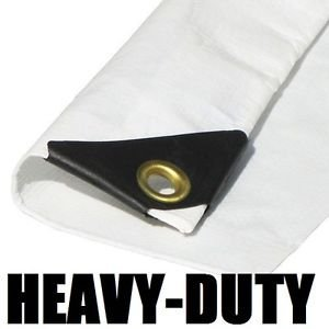 EZ Travel Collection Extra Heavy Duty Tarp, 3-Ply Coated Reinforced Canopy, 6 oz, 3 Layer, Includes Tarp Tools and Toys Maintenance Manual, 20'x40'