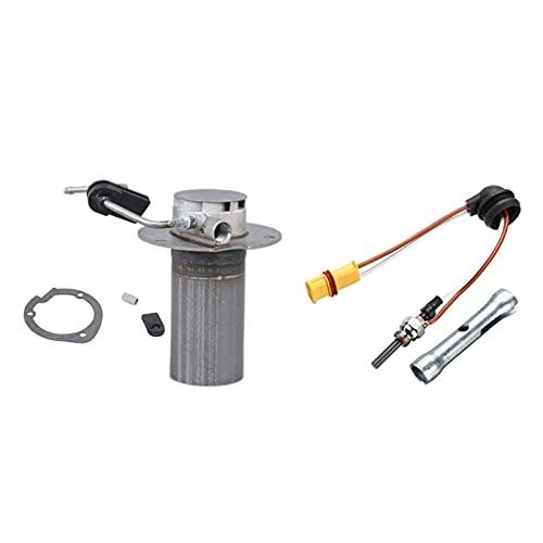 linger 2kW Heaver Burner Insertar antorchas Cámara de combustión Ajuste para Eberspacher Airtronic D2 & 12V-24V Diesel SENTIDADE con LLANDO (Color : Silver)