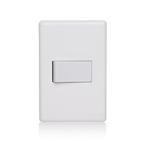 Conjunto 4x2 1 Interruptor Simples 10a 250v Horizontal Stella Steck Branco