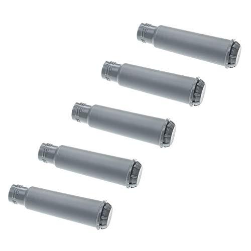 vhbw 5x Wasserfilter Filter passend für Krups One-Touch Smart Silver EA860e Kaffeevollautomat, Espressomaschine - grau